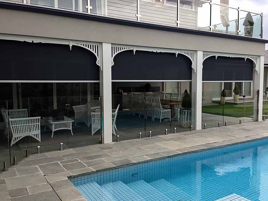Stainless Steel Straight Drop Awning